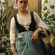 The Garden Girl Art Print