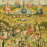 The Garden Of Earthly Delights Allegory Of Luxury, Central Panel Of Triptych, C.1500 Oil On Panel Art Print