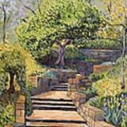 The Garden Stairs Art Print