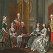 The Gascoigne Family, C.1740 Art Print