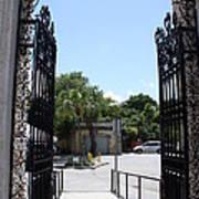 The Gate At Vizcaya Gardens Art Print