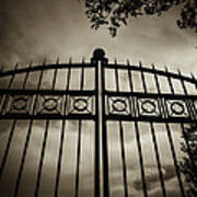 The Gate In Sepia Art Print