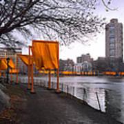 The Gates - Central Park New York - Harlem Meer Art Print by Gary Heller