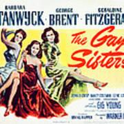 The Gay Sisters, Us Poster Art Art Print