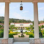 The Getty Villa Main Courtyard View From Covered Walkway. Art Print