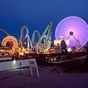 The Giant Wheel At Night  Art Print