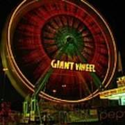 The Giant Wheel Spinning  Art Print