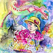 The Girl And The Lizard Art Print