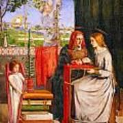 The Girlhood Of Mary Virgin Art Print