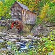 The Glade Grist Mill Art Print
