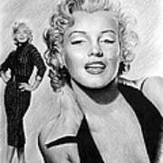 The Glamour Days Marilyn Monroe Print by Andrew Read