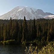 The Glow Of Mount Rainier Art Print