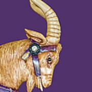 The Goat Who Likes Purple Art Print