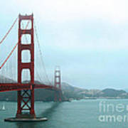 The Golden Gate Bridge And San Francisco Bay Art Print