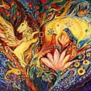 The Golden Griffin Art Print by Elena Kotliarker