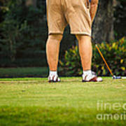 The Golfer Art Print