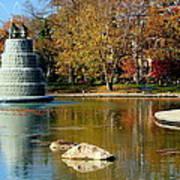 The Goodale Park  Fountain Art Print