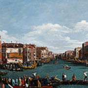 The Grand Canal At Venice Art Print by Antonio Canaletto