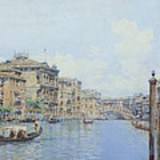 The Grand Canal With A View Of Palace Art Print
