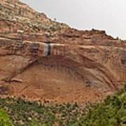 The Great Arch At Zion Natioal Park Art Print