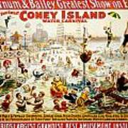The Great Coney Island Water Carnival Art Print by Georgia Fowler