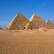 The Great Pyramids Giza Egypt Art Print