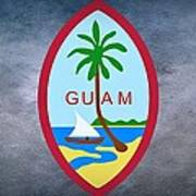 The Great Seal Of Guam Territory Of Usa  Art Print