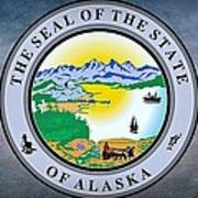 The Great Seal Of The State Of Alaska  Art Print