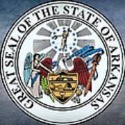 The Great Seal Of The State Of Arkansas Art Print
