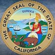 The Great Seal Of The State Of California Art Print