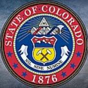 The Great Seal Of The State Of Colorado Art Print