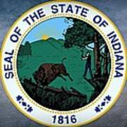 The Great Seal Of The State Of Indiana  Art Print