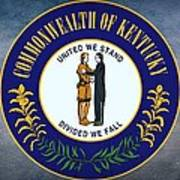 The Great Seal Of The State Of Kentucky  Art Print