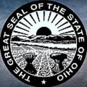 The Great Seal Of The State Of Ohio  Art Print