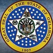 The Great Seal Of The State Of Oklahoma Art Print