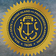 The Great Seal Of The State Of Rhode Island Art Print