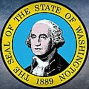 The Great Seal Of The State Of Washington Art Print