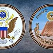 The Great Seal Of The United States Obverse And Reverse Art Print