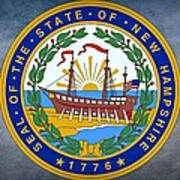 The Great Seal Of The State Of New Hampshire Art Print