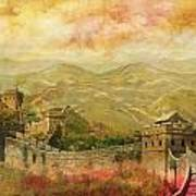 The Great Wall Of China Art Print by Catf