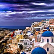 The Greek Isles Santorini Art Print