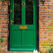 The Green Door Art Print