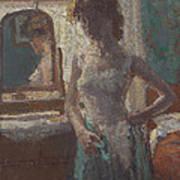 The Green Dress, 1908-09 Art Print