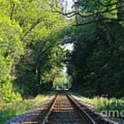 The Green Line Railroad Track Art Art Print