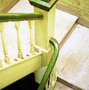 The Green Stairwell Art Print