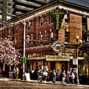 The Green Tortoise Hostel In Seattle Print by David Patterson