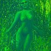 The Green Wood Nymph Calls Art Print