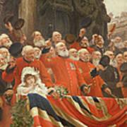 The Guards Cheer, 1898 Art Print