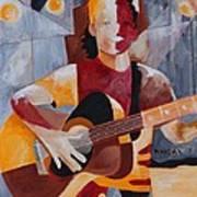 The Guitar Player Art Print