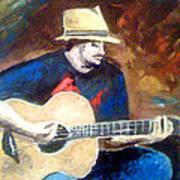 The Guitarist Art Print by Soumya Bouchachi